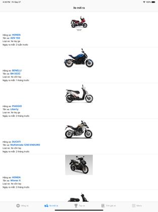 Screenshots Giá xe máy: Cấp nhật giá xe hai bánh nhanh nhất