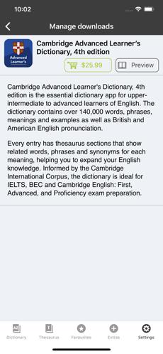 Screenshots Cambridge English Dictionary: Ứng dụng tra từ điển Anh - Anh