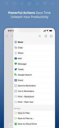 Screenshots Ứng dụng Drafts - Tạo ghi chú mọi lúc trên điện thoại, máy tính