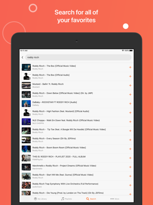 Screenshots Musi - Ứng dụng nghe nhạc Youtube tắt màn hình trên iOS