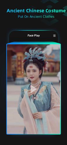 Screenshots Tải FacePlay: App ghép mặt vào video cổ trang kiểu Trung