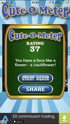 Screenshots App Cute O Meter: App chấm điểm dễ thương