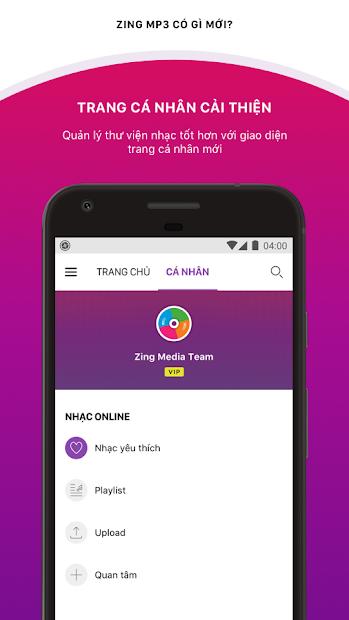 Screenshots Zing MP3 - Ứng dụng nghe nhạc trực tuyến