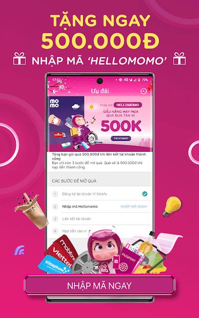 Screenshots Ví điện tử MoMo: nạp tiền & thanh toán tiện lợi tại Việt Nam