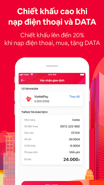 Screenshots ViettelPay - Ví điện tử Viettel: Ngân hàng số của người Việt