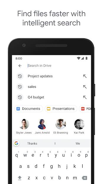 Screenshots Google Drive - Bộ nhớ tệp