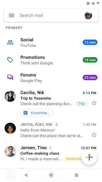 Screenshots Gmail của Google: Gửi email nhanh chóng