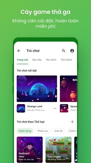 Screenshots Trình duyệt Cốc Cốc