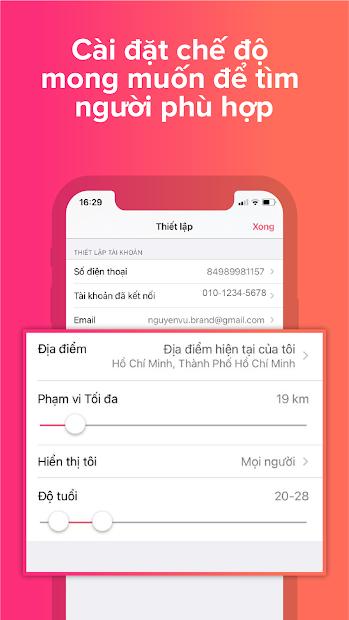 Screenshots Tinder- Ứng dụng hẹn hò, tìm người trò chuyện, kết bạn, làm quen