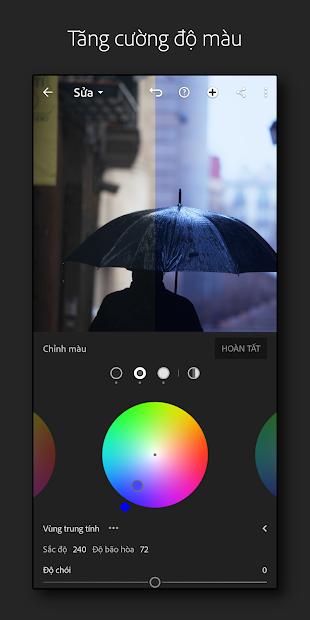 Screenshots Adobe Lightroom Photo Editor - Thiết kế ảnh Abobe