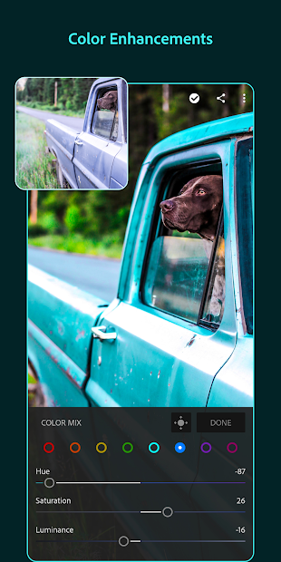 Screenshots Adobe Lightroom Photo Editor - Thiết kế ảnh Abobe
