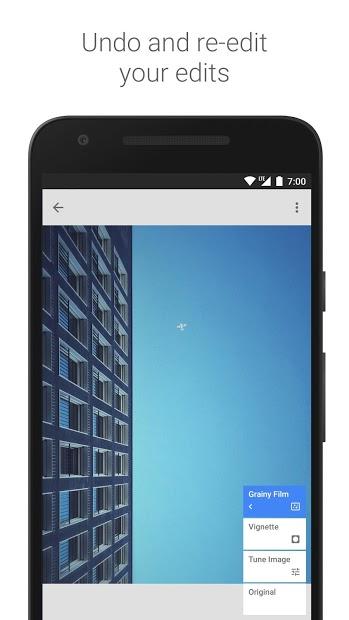 Screenshots Snapseed - Ứng dụng chỉnh sửa hình ảnh của google