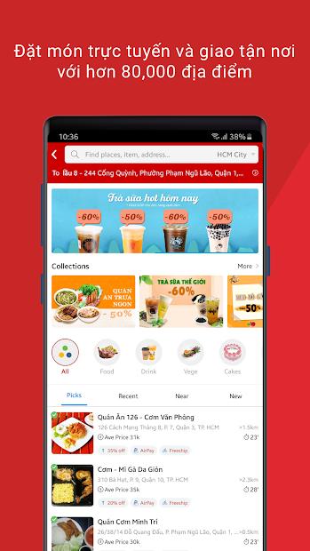 Screenshots Foody - Ứng dụng tìm, đặt thức ăn hiệu quả và nhanh chóng