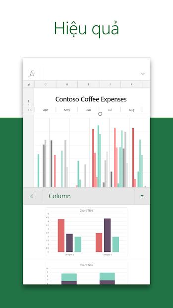 Screenshots Microsoft Excel: Tạo, chỉnh sửa trang tính excel