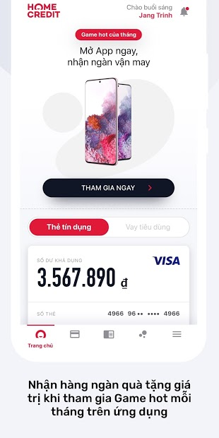 Screenshots Home Credit Vietnam: Vay tiền online, quản lý khoản vay