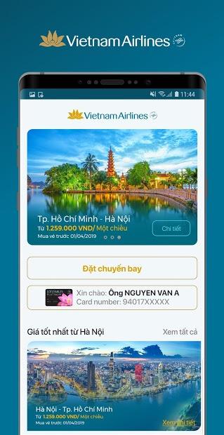 Screenshots Vietnam Airlines: Nơi mua vé máy bay, checkin online