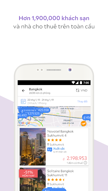 Screenshots Agoda - Ứng dụng hỗ trợ du lịch giá rẻ