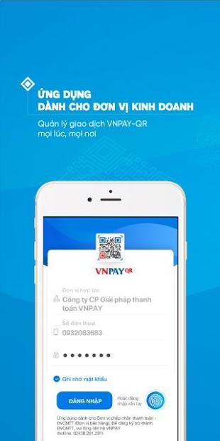 Screenshots VNPAYQR: Tạo mã thanh toán QR Code cho cửa hàng