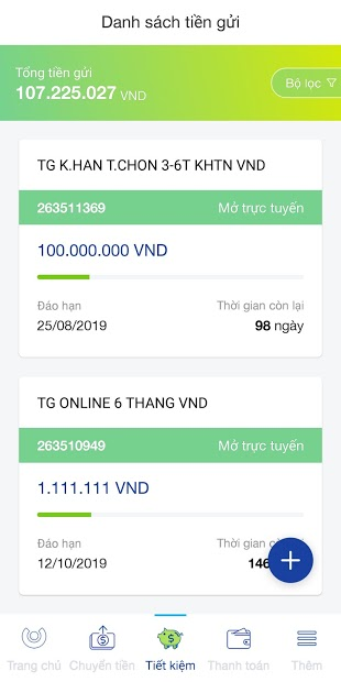 Screenshots ACB - Online banking - Ứng dụng thanh toán online của ACB