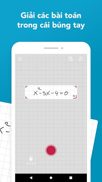 Screenshots Photomath - Ứng dụng giải toán nhanh trên điện thoại, hỗ trợ Tiếng VIệt