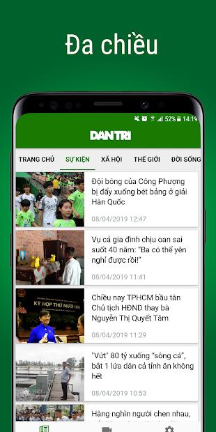 Screenshots Ứng dụng Báo Dân trí - Dantri.com.vn: Cập nhật tin tức nóng hổi