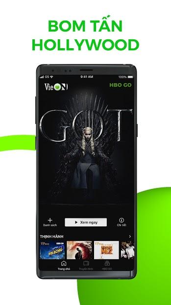 Screenshots VieON: Ứng dụng xem phim, game show Người Ấy Là Ai, Quý Ông Đại Chiến,...