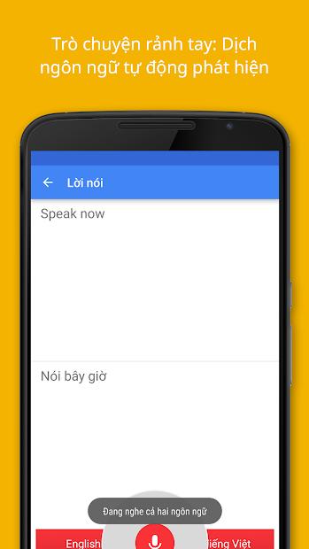 Screenshots Google Dịch - Công cụ dịch ngôn ngữ thông minh