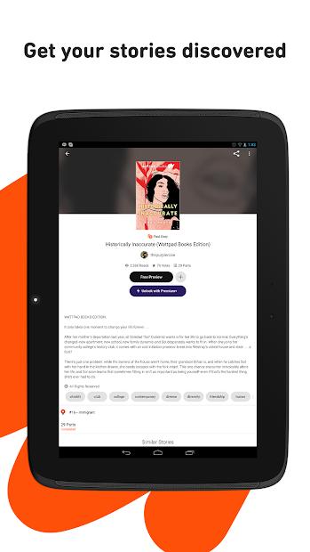 Screenshots Wattpad: Đọc truyện hay Online, viết truyện
