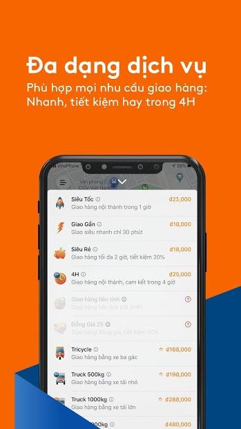 Screenshots AhaMove: Ứng dụng giao hàng tận nhà