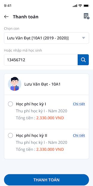 Screenshots Ứng dụng vnEdu: Tra cứu điểm, kết quả học tập, sổ liên lạc điện tử
