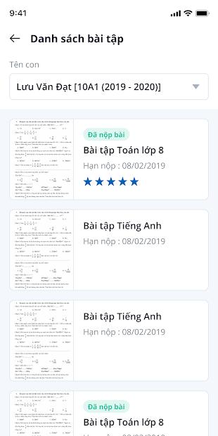 Screenshots Ứng dụng vnEdu.vn: Tra cứu điểm, kết quả học tập, sổ liên lạc điện tử