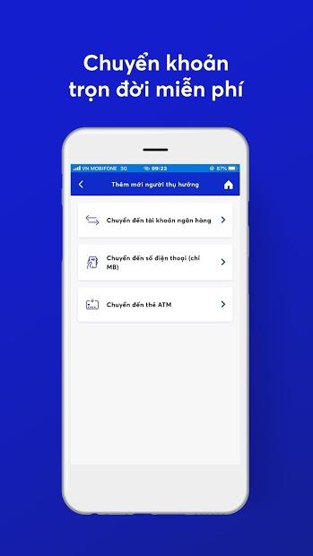 Screenshots Ứng dụng MB Bank: Chuyển khoản miễn phí, thanh toán hóa đơn