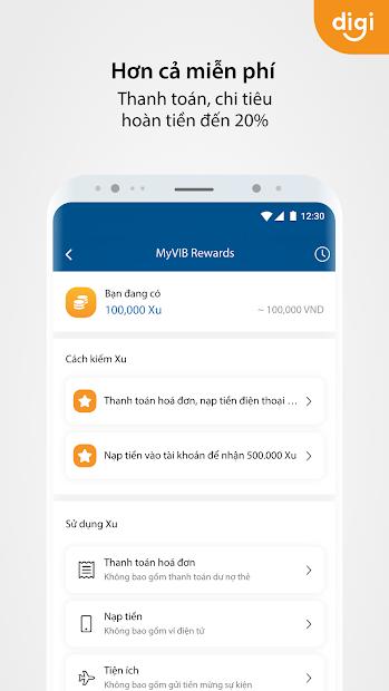 Screenshots MyVIB - Ngân hàng trực tuyến trong tay bạn