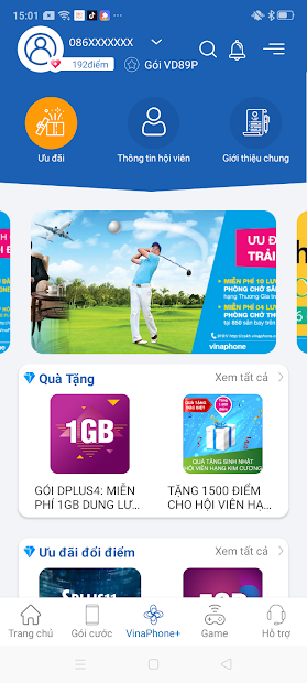 Screenshots My VNPT: Quản lý dịch vụ di động, cáp quang, truyền hình