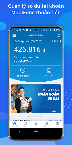 Screenshots My MobiFone - Tra cứu thông tin tài khoản MobiFone