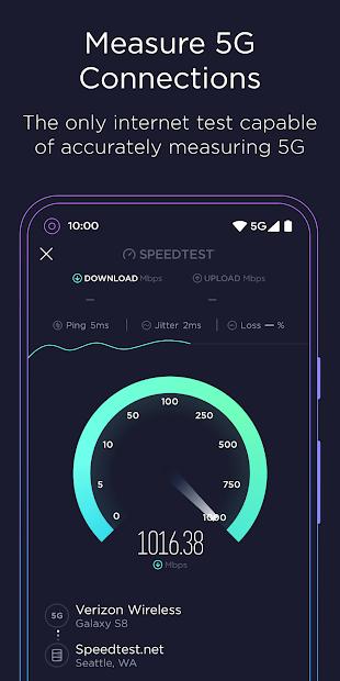 Screenshots Speedtest by Ookla: Kiểm tra tốc độ mạng