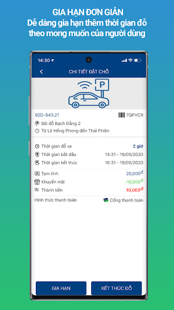 Screenshots MyParking - Hỗ trợ tìm bãi đỗ xe nhanh chóng