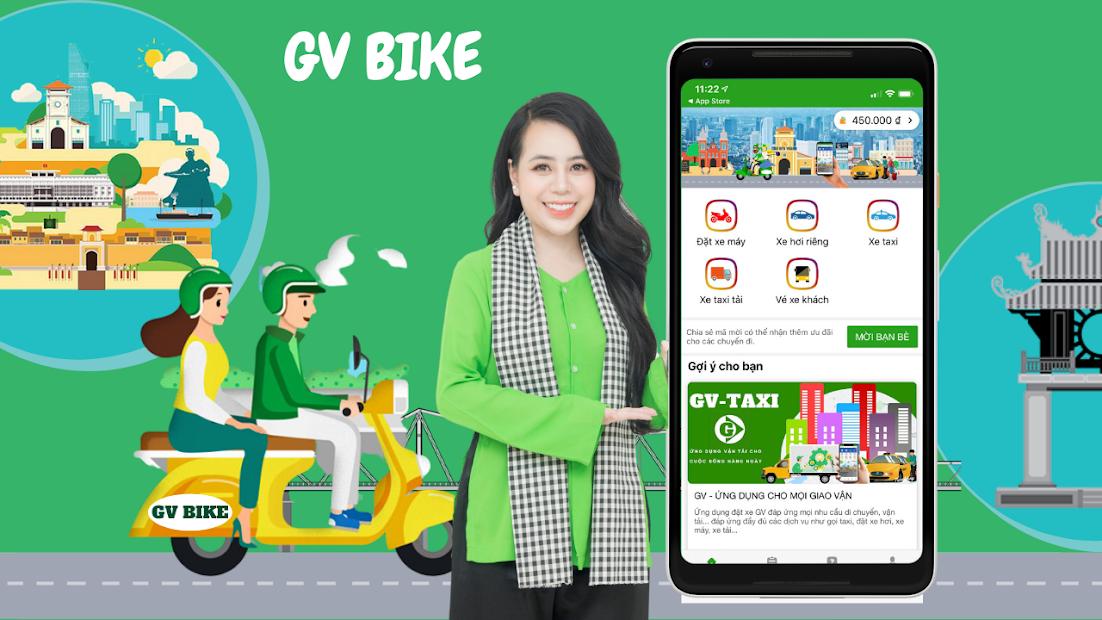 Screenshots GV - Ứng dụng đặt xe hơi riêng, xe máy và Taxi