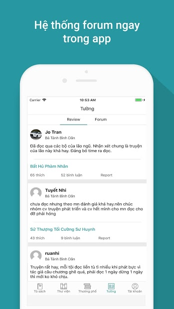 Screenshots Tàng thư viện - Ứng dụng đọc truyện hay trên điện thoại