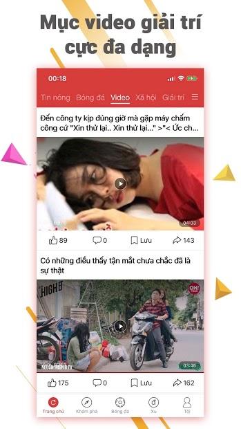 Screenshots VN Ngày Nay: ứng dụng đọc báo online 24h