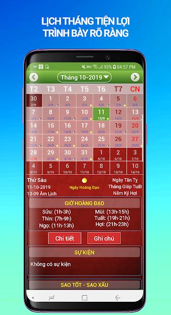 Screenshots Lịch Vạn Niên 2020 - Xem lịch âm, tử vi nhanh chóng