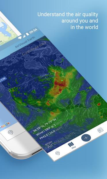 Screenshots AirVisual Air Quality Forecast: Theo dõi, dự báo chất lượng không khí