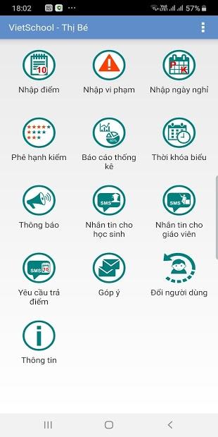 Screenshots Ứng dụng VietSchool: Tra cứu điểm, kết quả học tập, sổ liên lạc điện tử
