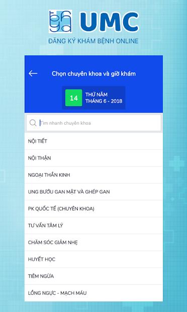 Screenshots UMC - Đăng Ký Khám Bệnh Online