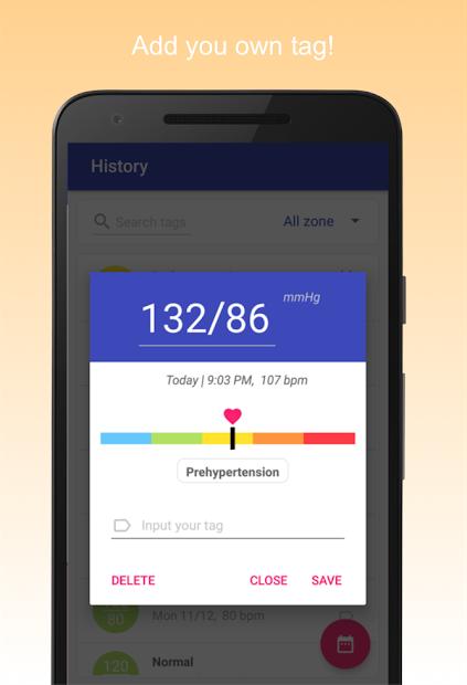 Screenshots Máy đo huyết áp & quản lý huyết áp cao
