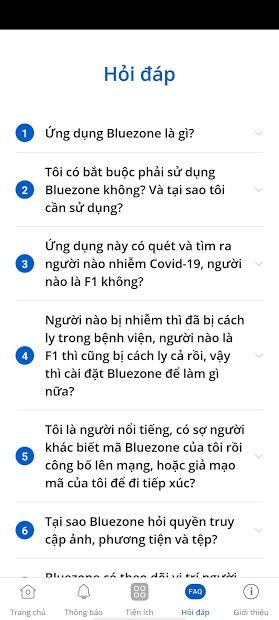 Screenshots Tải Bluezone - Ứng dụng cảnh báo tiếp xúc người nhiễm Covid-19