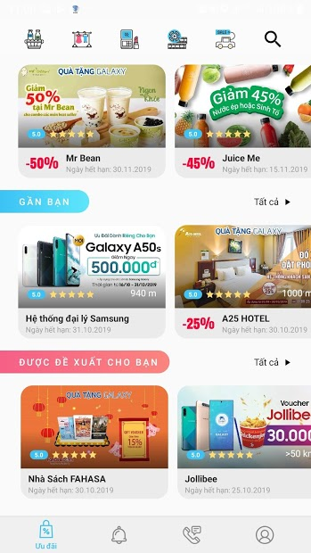 Screenshots Quà tặng Galaxy - Ứng dụng tiện ích dành riêng cho khách hàng Samsung