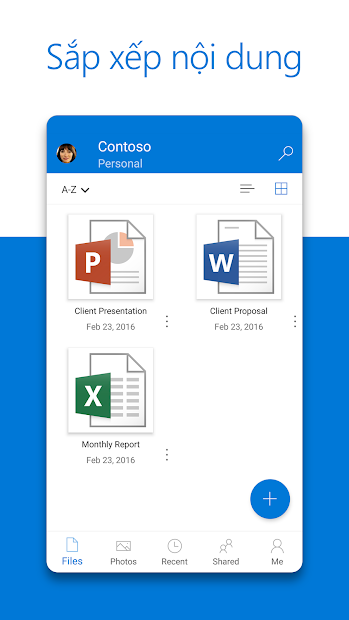Screenshots Microsoft OneDrive - Lưu trữ dữ liệu