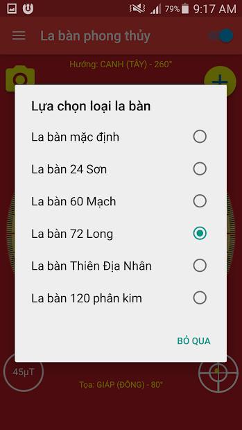 Screenshots La bàn Phong thủy