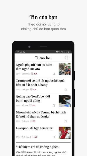 Screenshots Báo VnExpress: Cập nhật tin tức nóng hổi, mới nhất 24/7